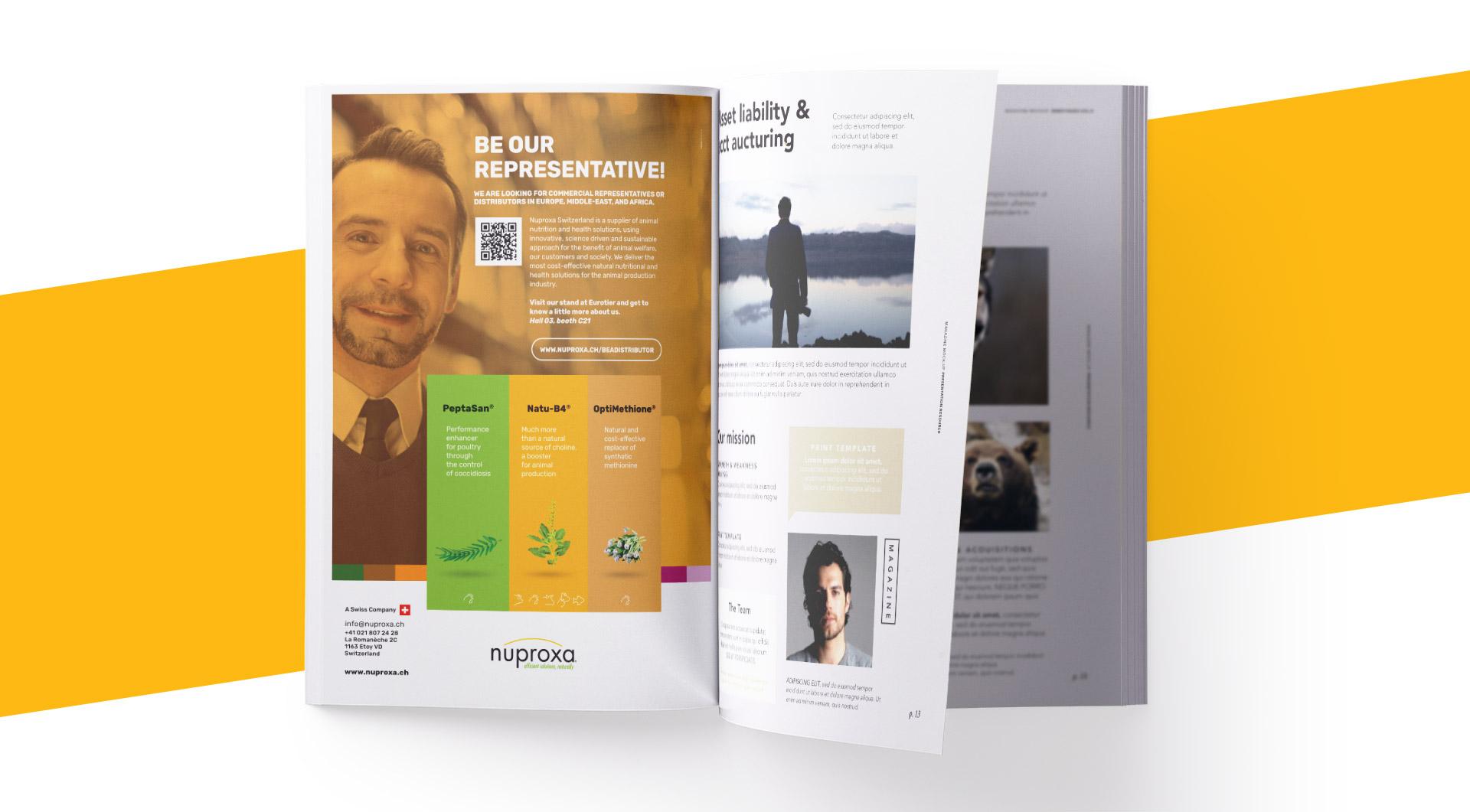 Anúncios em revista Nuproxa