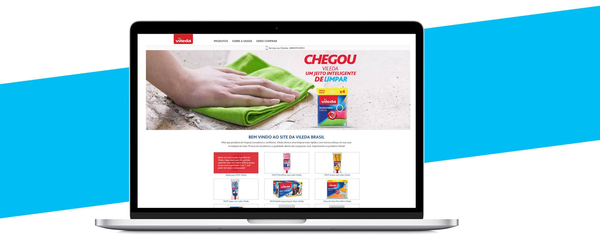 Criação e desenvolvimento website- Case Vileda