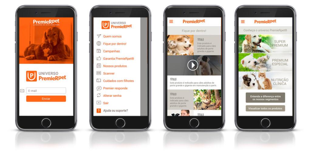 Mockup app PremieRpet