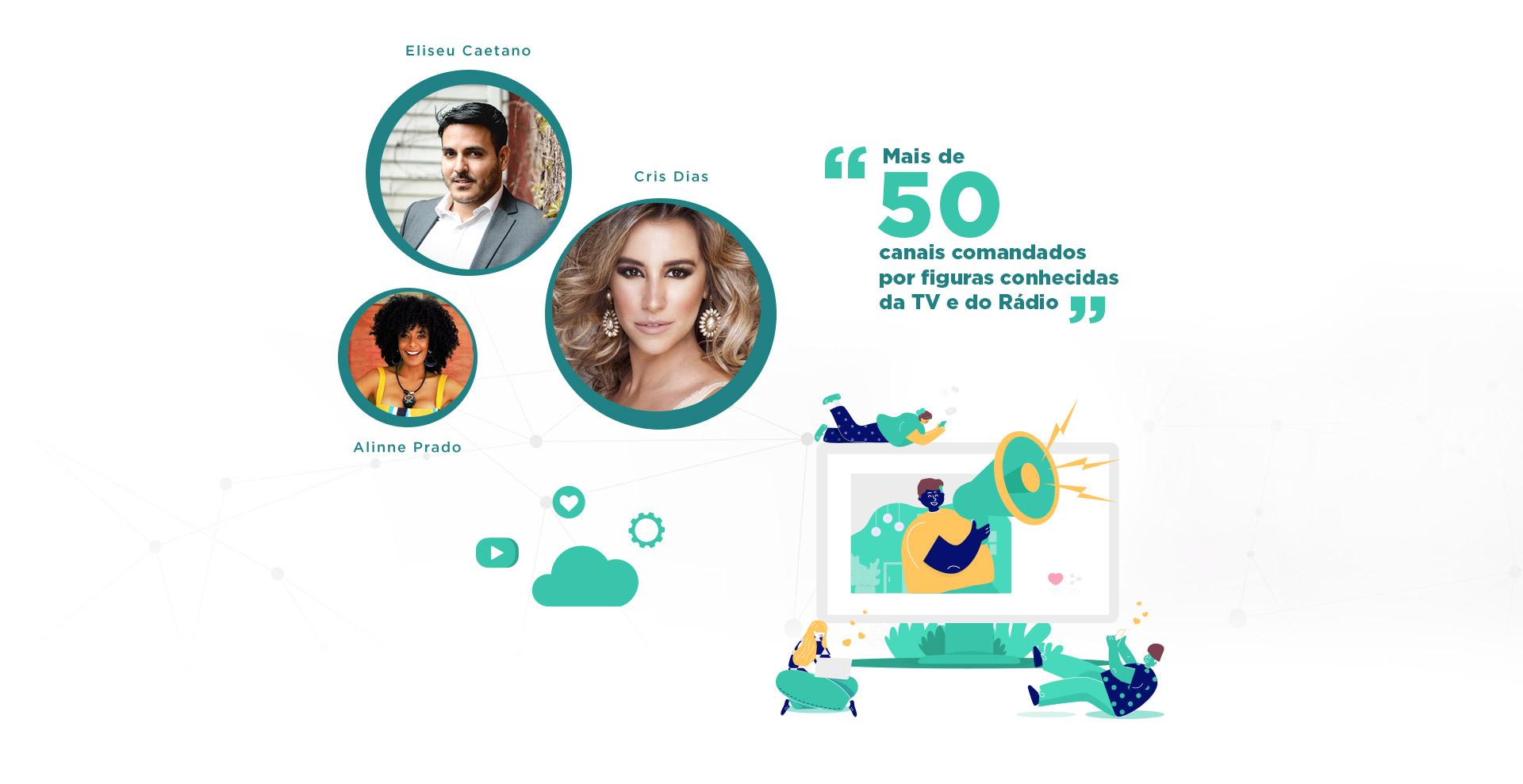 Associados Eliseu Caetano, Cris Dias e Alinne Prado - Case ClickTube