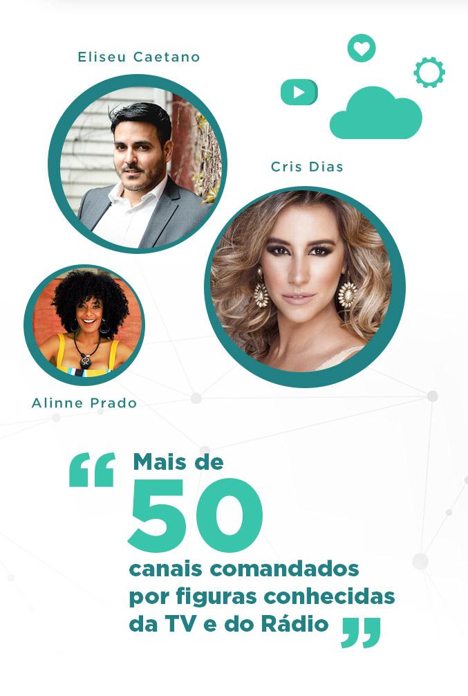 Associados Eliseu Caetano, Cris Dias e Alinne Prado - Mobile