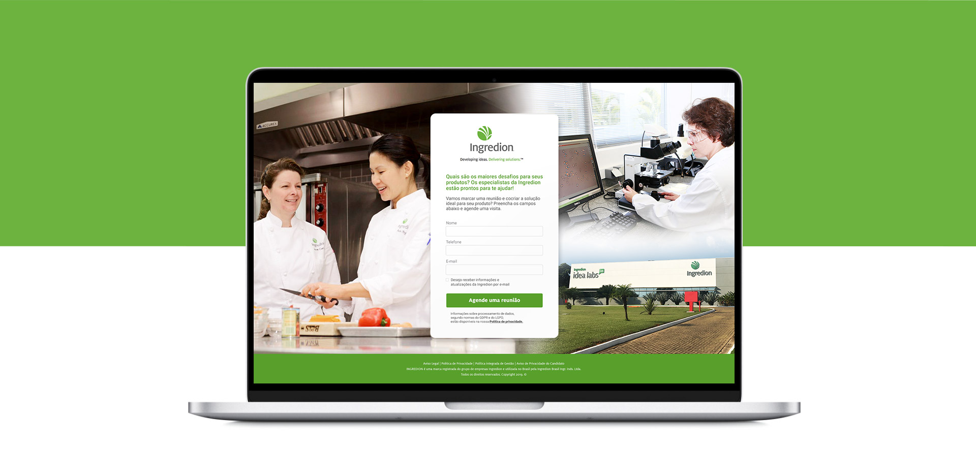 Landing Page para Inbound Marketing Ingredion