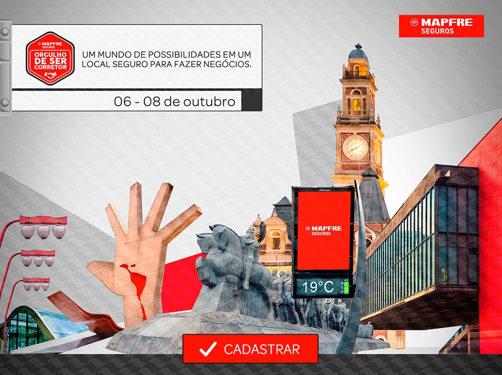 Design de aplicativo de evento Mapfre