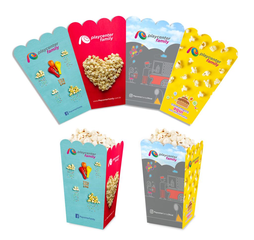Embalagens de Pipoca Case Playcenter - mobile