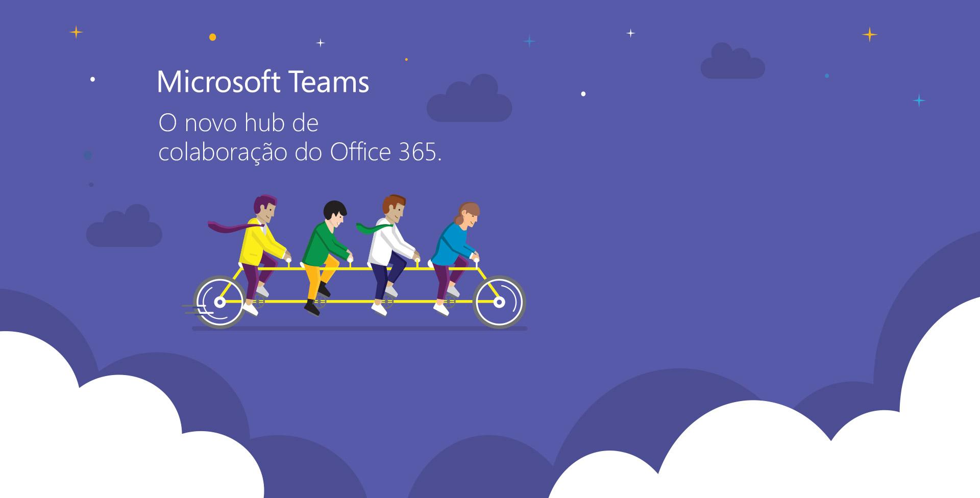 Peça de divulgação para evento Microsoft Teams