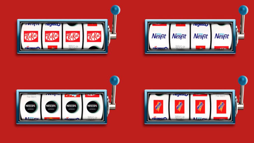 Prêmios sortidos no caça níquel  Case Nestlé