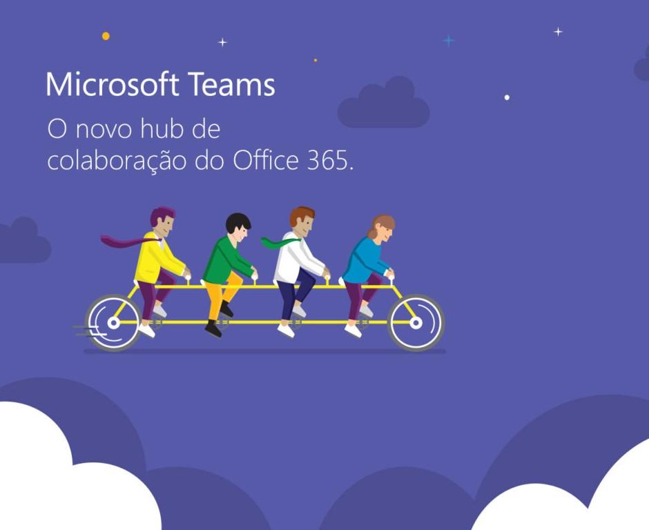 Peça de divulgação para evento Microsoft Teams - mobile