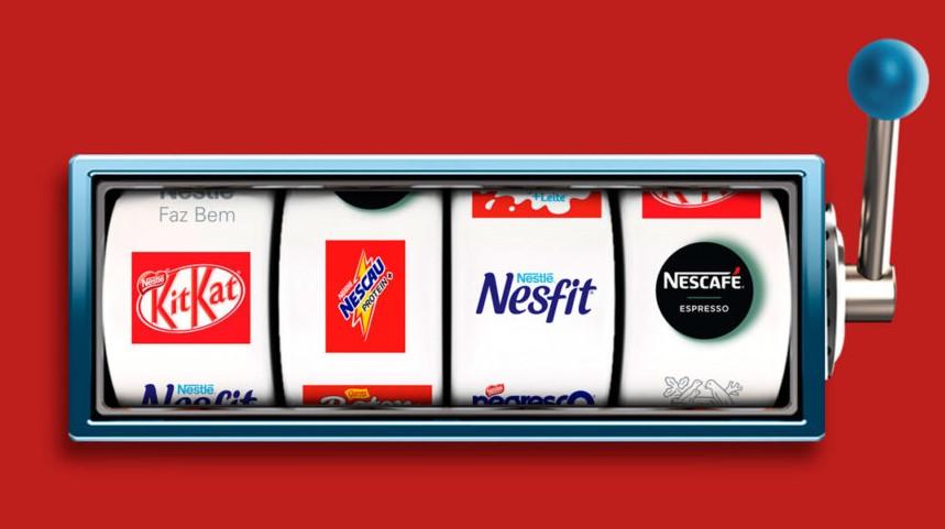 Distribuição de brindes com caça níquel  Case Nestlé - Mobile