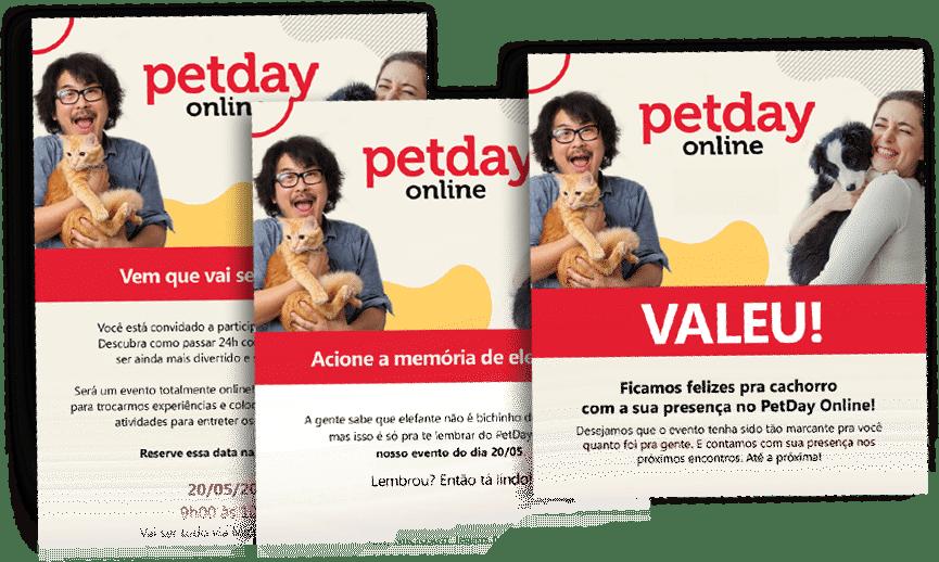 Convite para participação no evento digital - Case Petday