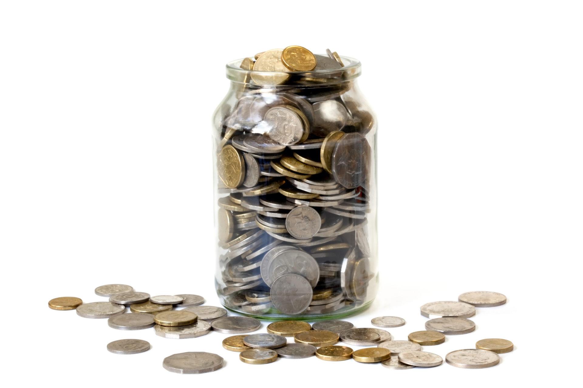 Pote com moedas dentro - Twitter Tip Jar